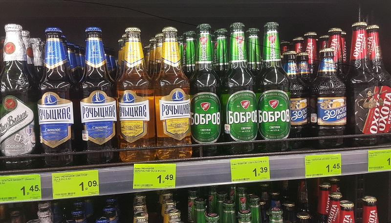 Цены на пиво в Беларуси