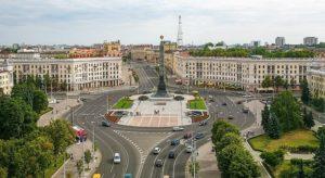 Площадь Победы и вечный огонь в Минске