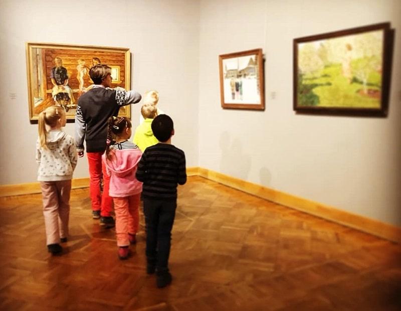 Экспозиция белорусского искусства в Нац музее