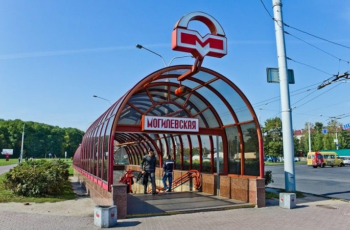 Метро в Минске станция Могилевская